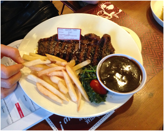 Holycow steak dish
