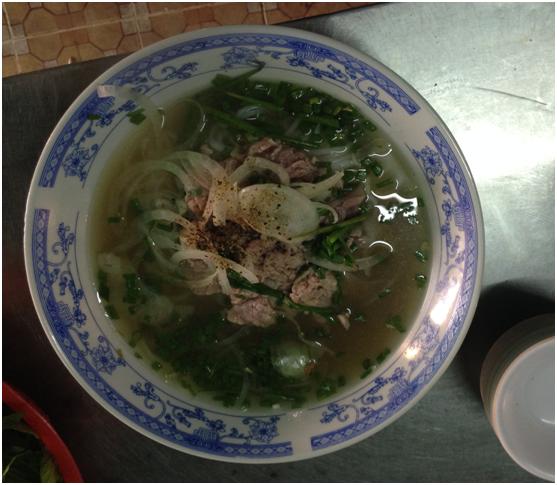 Vietnamese breakfast beef soup