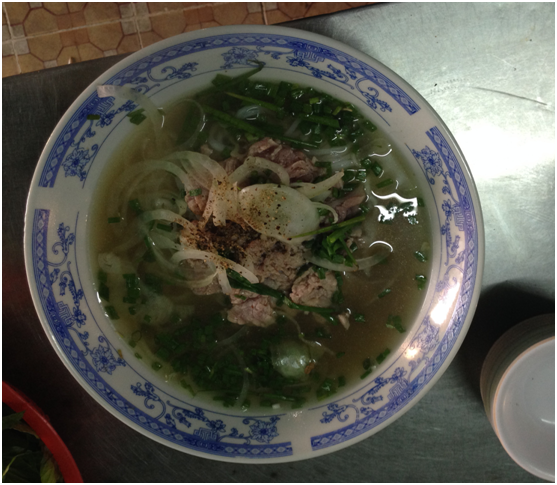 Vietnamese breakfast beef soup
