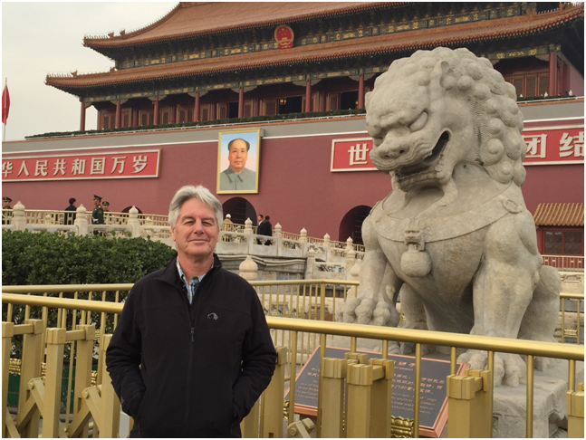 The author in Beijing this week.     Reports commence from China next month.