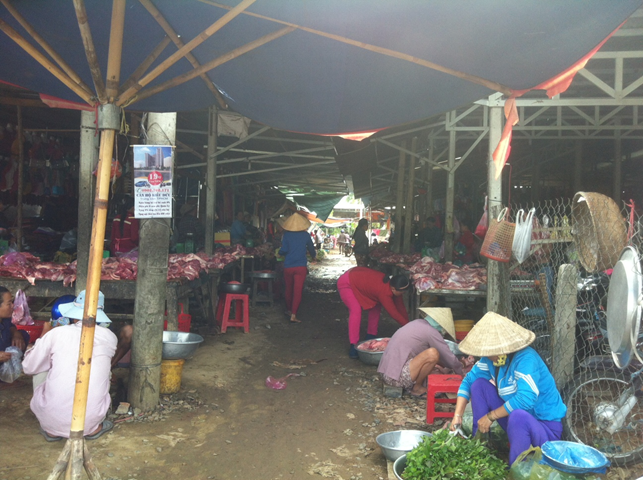 Truong Mit Wet Market in Tay Ninh province – NW of Ho Chi Minh City