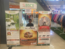 During the lead up to Qurban, booths like this one pop up in shopping malls and public areas all over Indonesia making it easy for Muslims to donate animals to the poor.