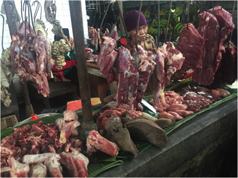 From nose to tail : One area that buffalo imports can't compete is for fresh offals and bone-in products which are highly prized by Indonesian consumers. Liver, kidneys, brains, spleen, testicles, tongue, lung, ox tail, leg bones, whole feet, intestines, tripe, skin etc. can be found for sale in every wet market selling beef.