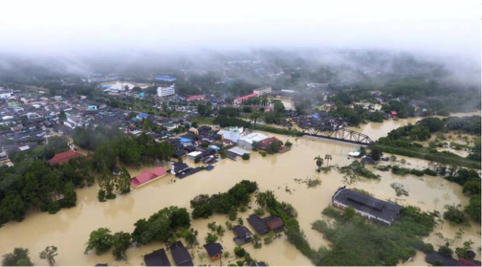 Photo : Recent flooding in south-eastern Thailand.