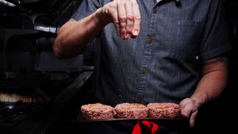 Promotional photo from the internet. Looks like meat and bleeds when cut!