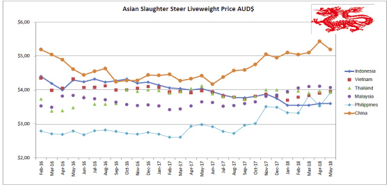 May Asian Slaughter Steer Liveweight