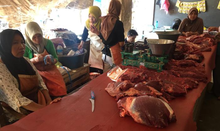 Wet Market in Mataram, the Capital of Lombok