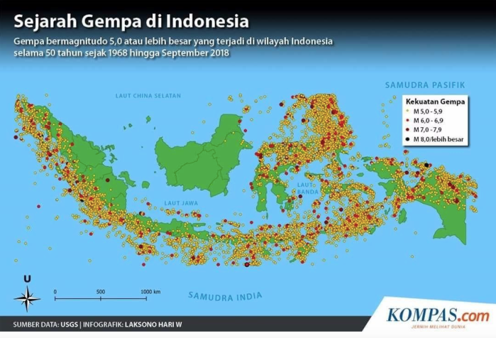 Photo3, Location of Earthquakes in Indonesia