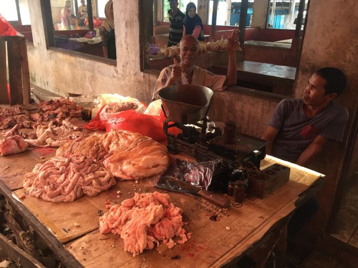Photo1_Beef Section in Pelaihari Wet Market